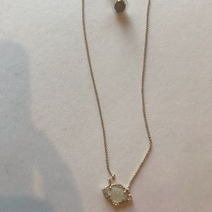 Stella & Dot necklace & earring set, gold